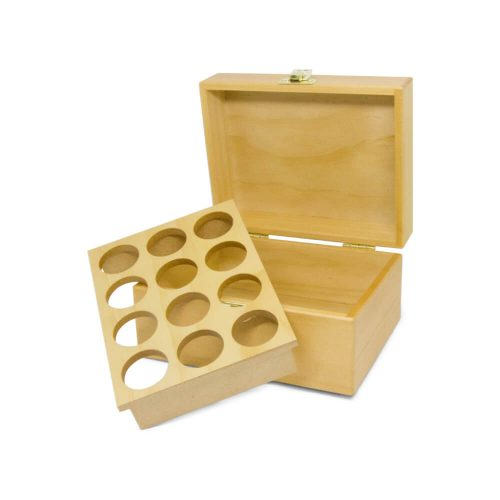 十二格精油木盒(原木)