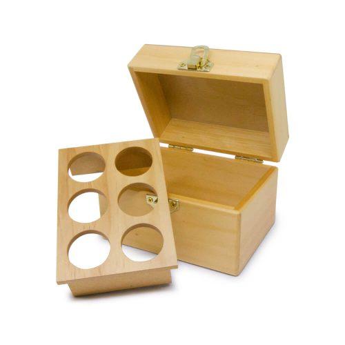 六格精油木盒(原木)